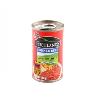 HIGHLANDS CORNED BEEF REG 150G
