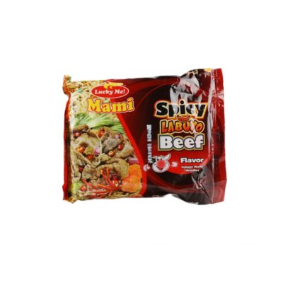 Lucky Me! Mami Spicy Labuyo Beef Flavor Instant Mami Noodles 50g
