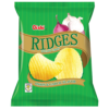 Oishi Ridges Potato Chips Onion & Garlic 60g