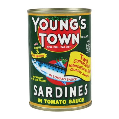 YOUNG'S TOWN SARDINES GREEN 425G