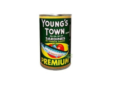 YOUNG'S TOWN SARDINES GREEN EOC 155G